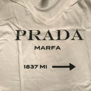 Tops - Prada V-neck T-shirt NWOT